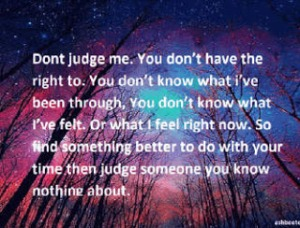 dont judge